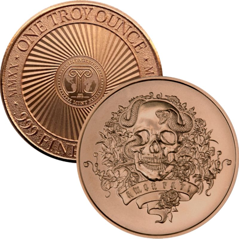 "Amor Fati ~ ""Love Of One's Fate"" ~ (2020 Reverse) 1 oz .999 Pure Copper Round"